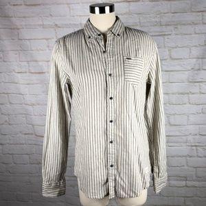 Scotch & Soda Pico Bello Slub Knit Striped Shirt